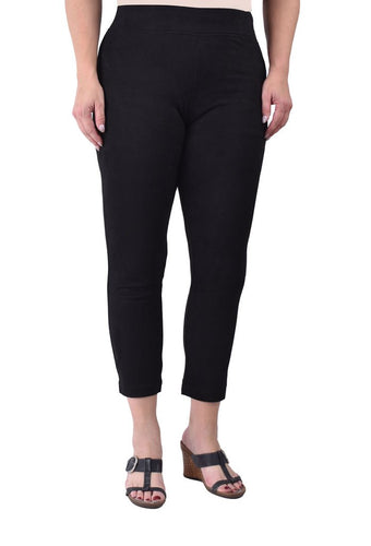 Ethyl Poly Suede Legging in Black