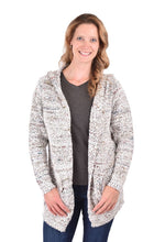 Load image into Gallery viewer, Ethyl Space Dyed Yarn Cardigan Hoodie