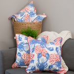 Bahamian Lobster & Coral Pillow