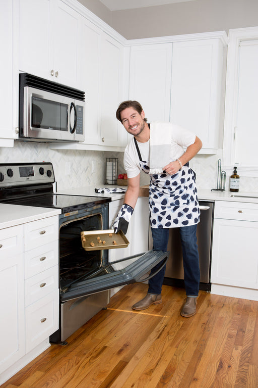 Abstract Polka Dot Apron + Oven Mitt Bundle