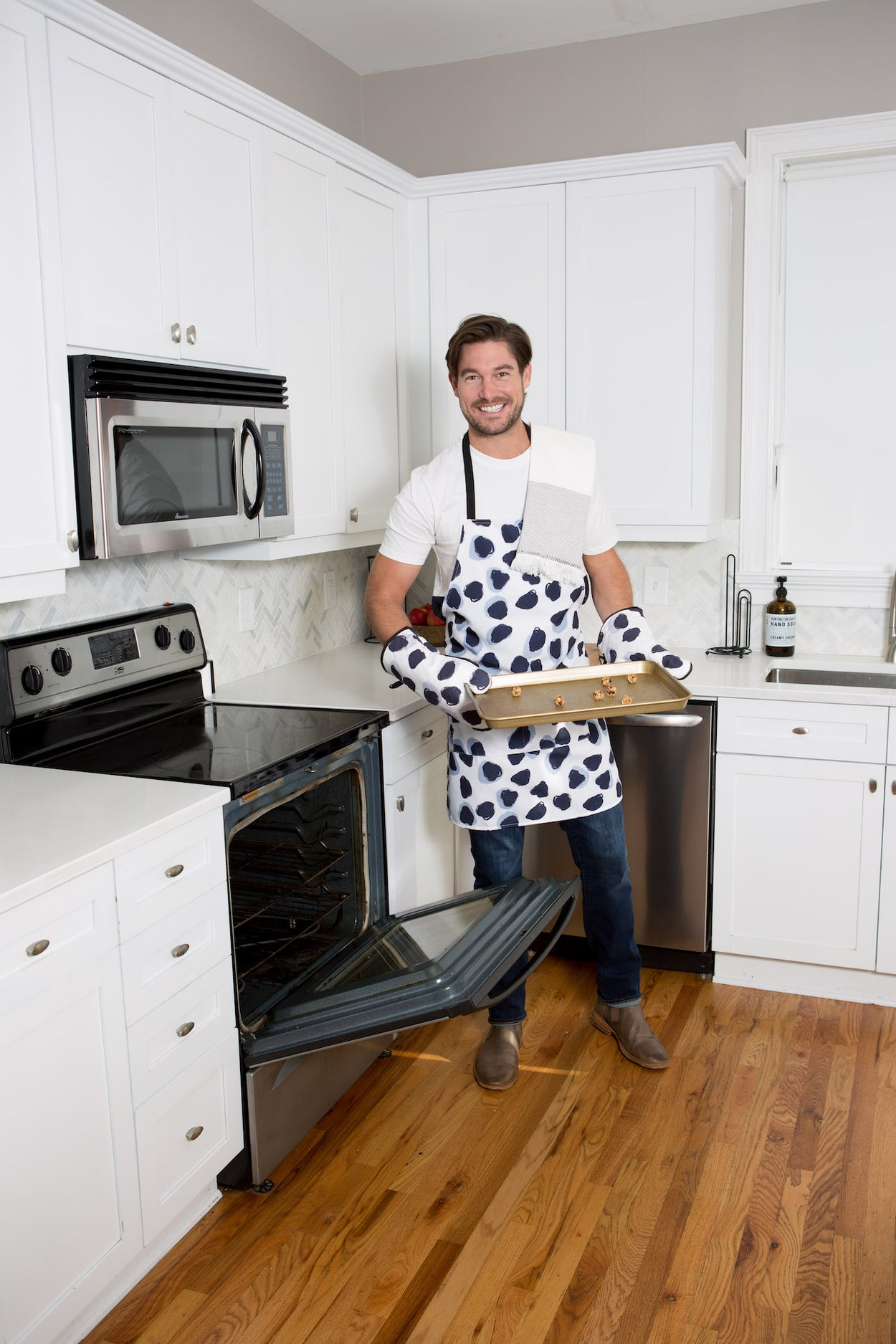Abstract Polka Dot Apron