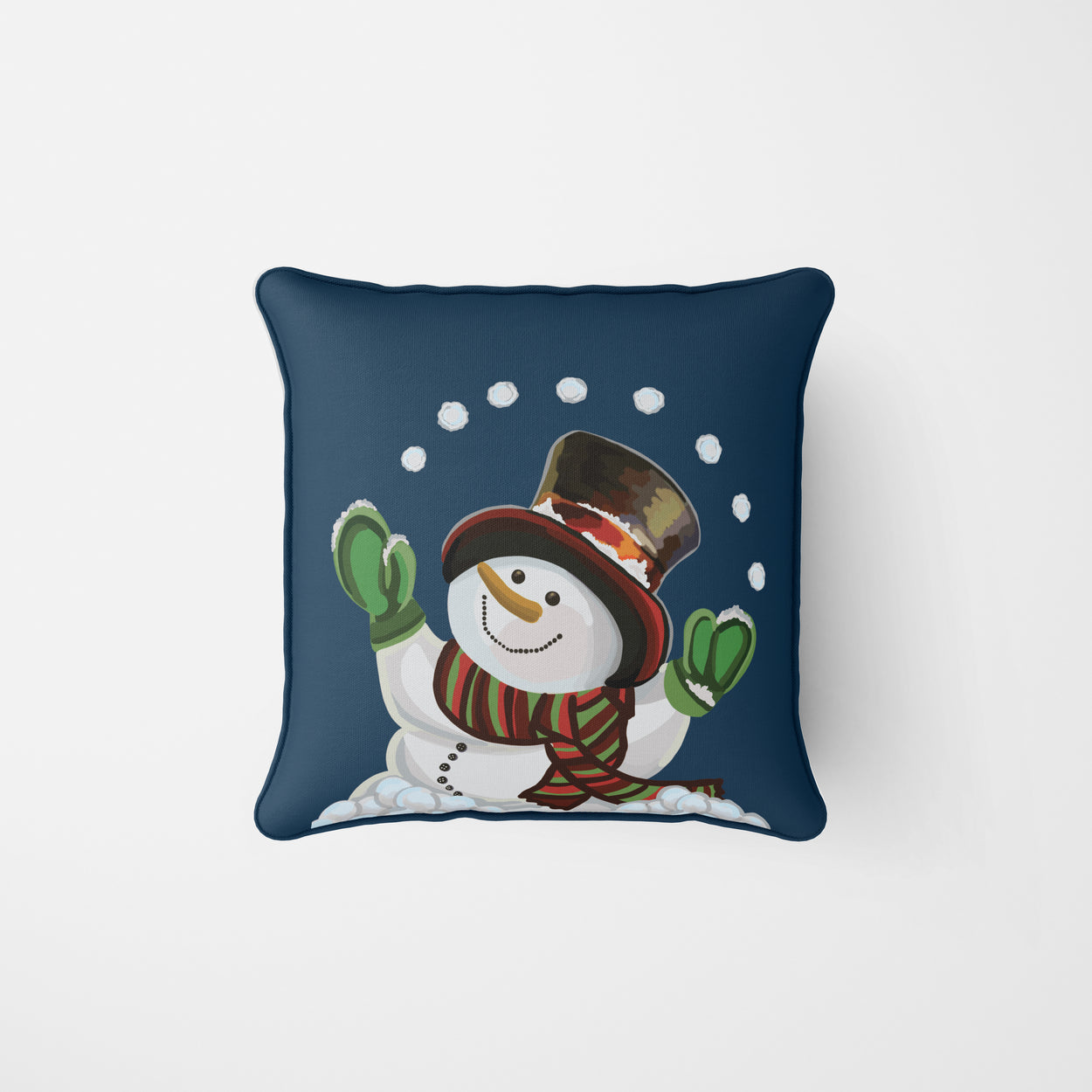 Holiday Snowman Pillow