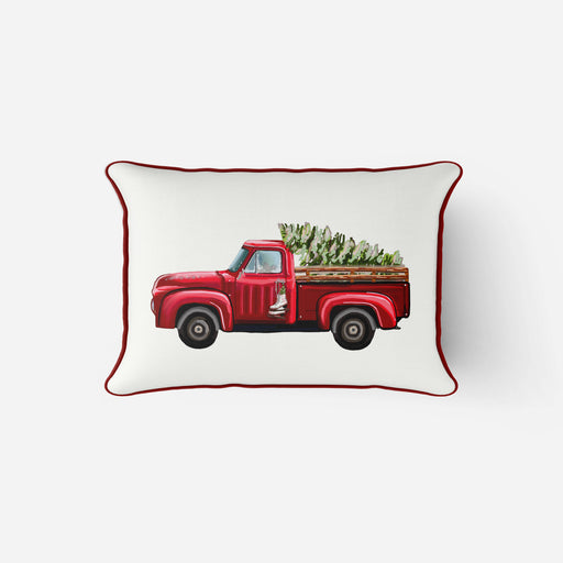 Vintage Tree Truck Lumbar Pillow