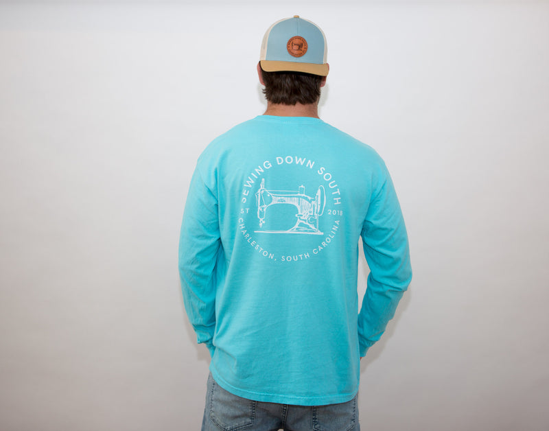 Sewing Down South Long-Sleeve Logo Tee, Rainbow Row Colors