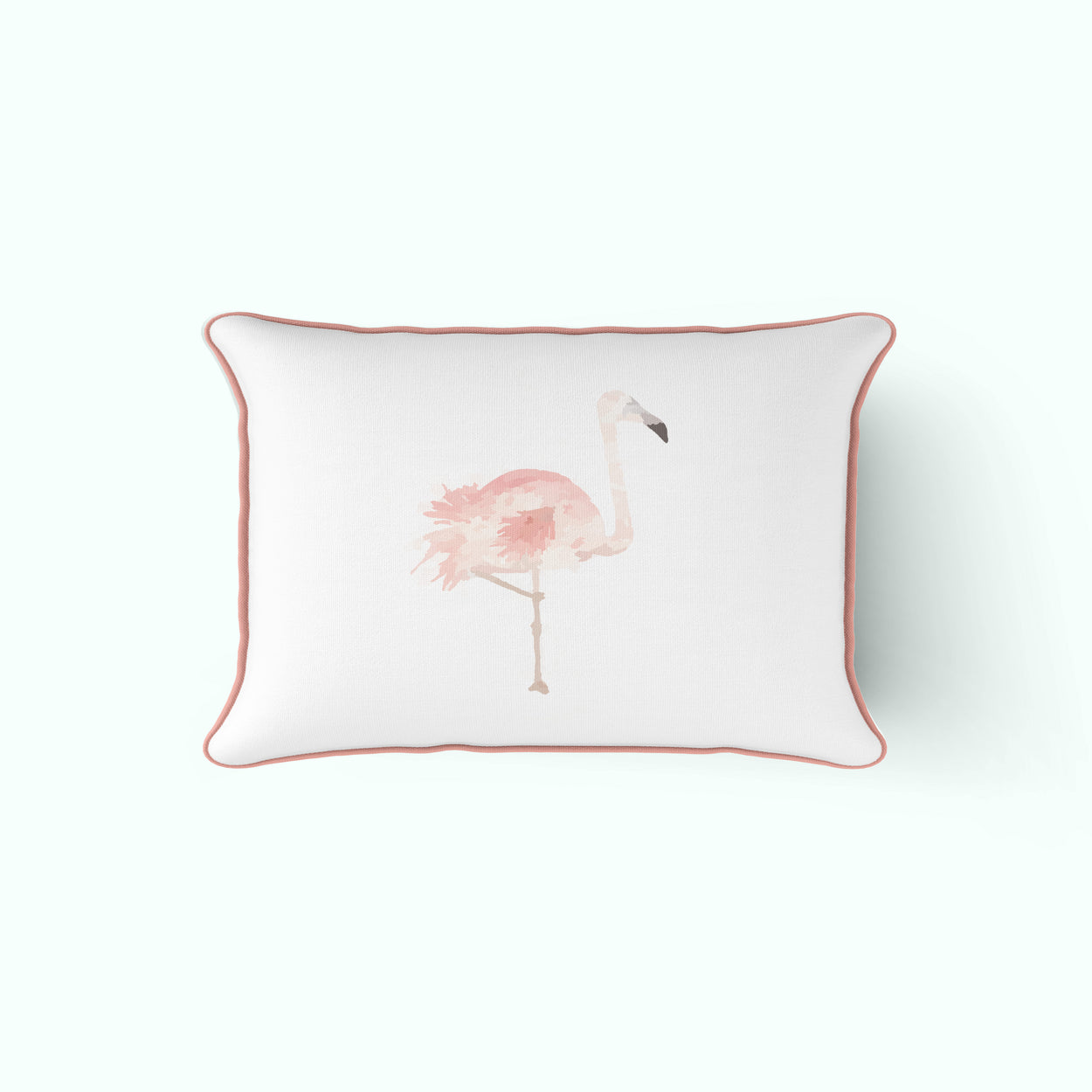 The Flamingo Pillow Lumbar Cover
