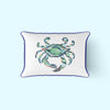 King Crab Lumbar Pillow with Navy