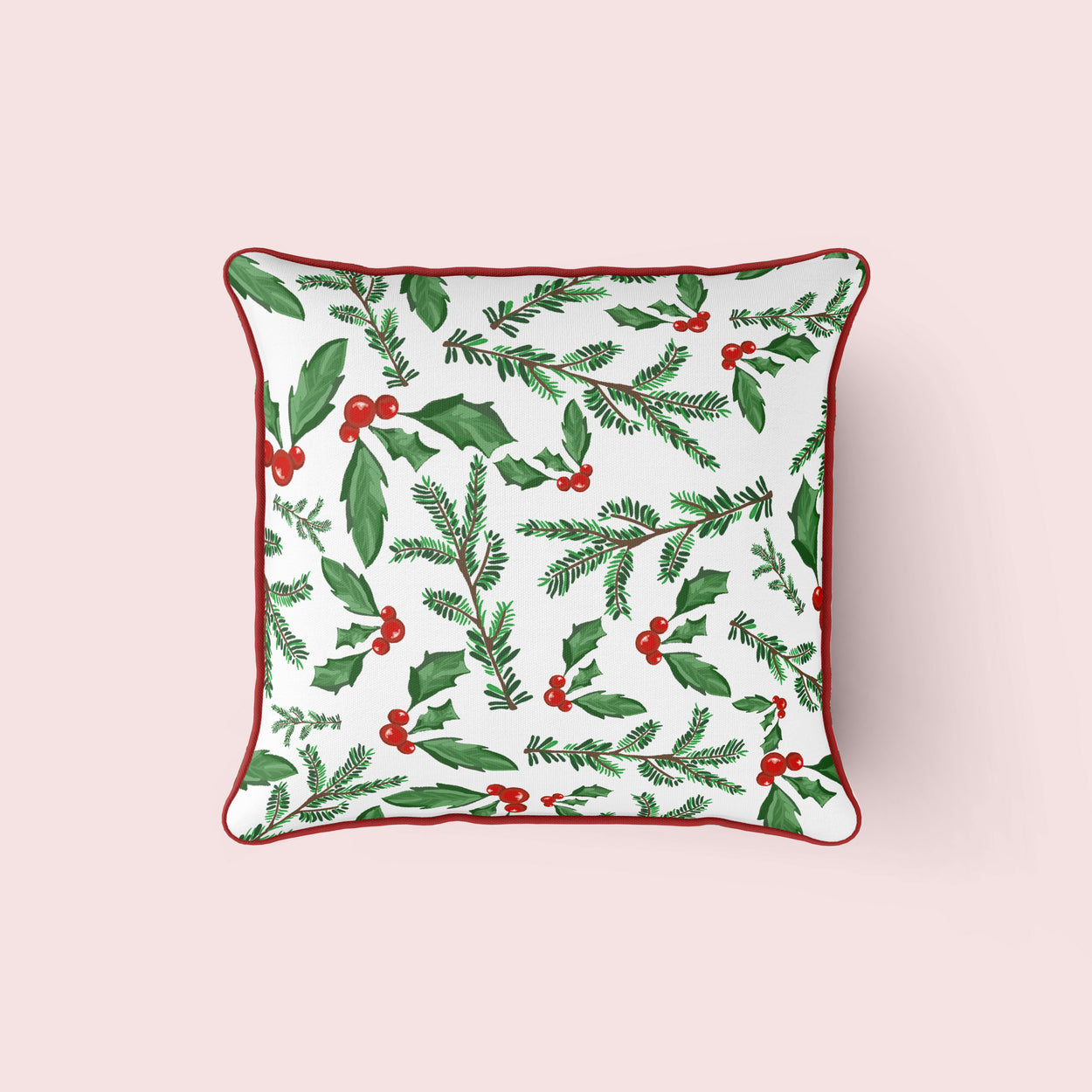 Holiday Holly Pillow