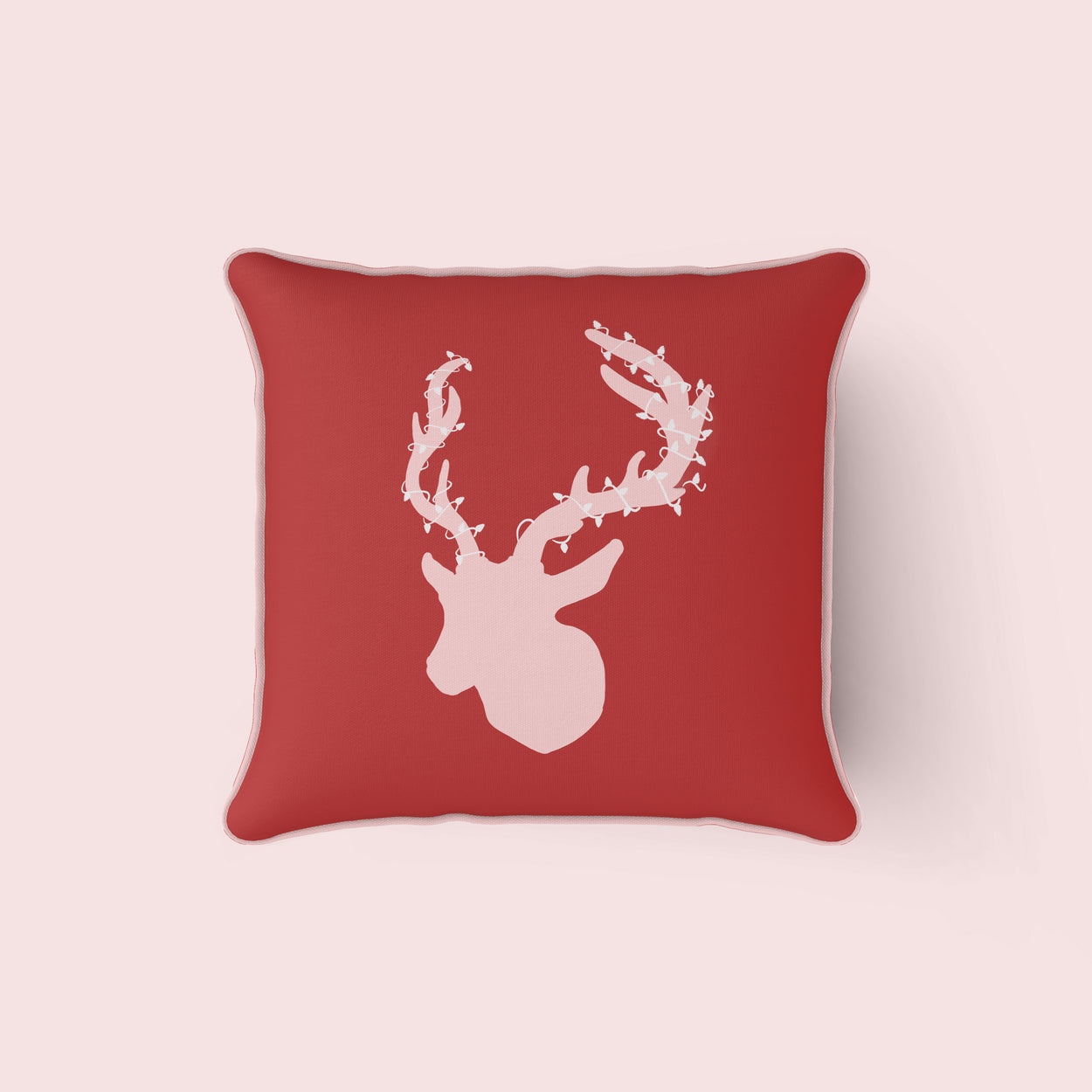 Pink Reindeer Pillow