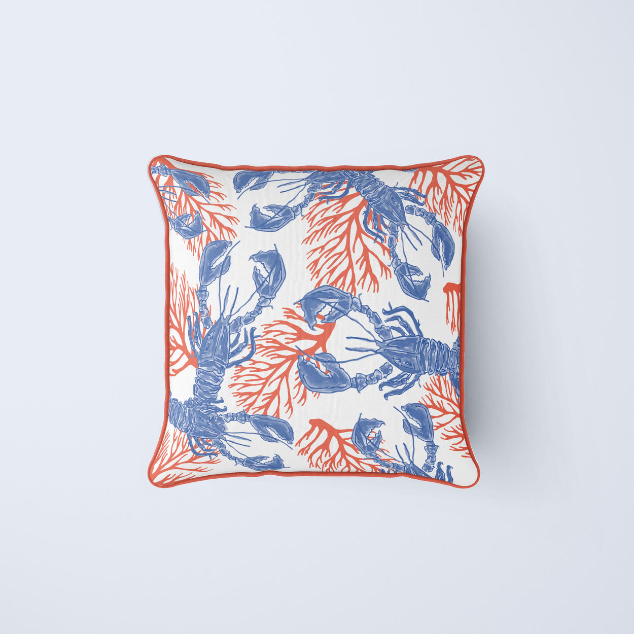 Lobster & Coral Pillow