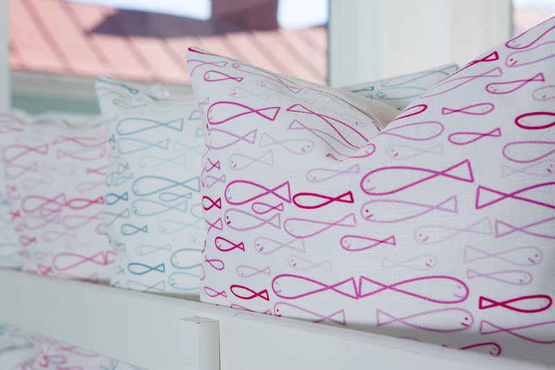 *NEW* Sea of Pink Minnows Pillow