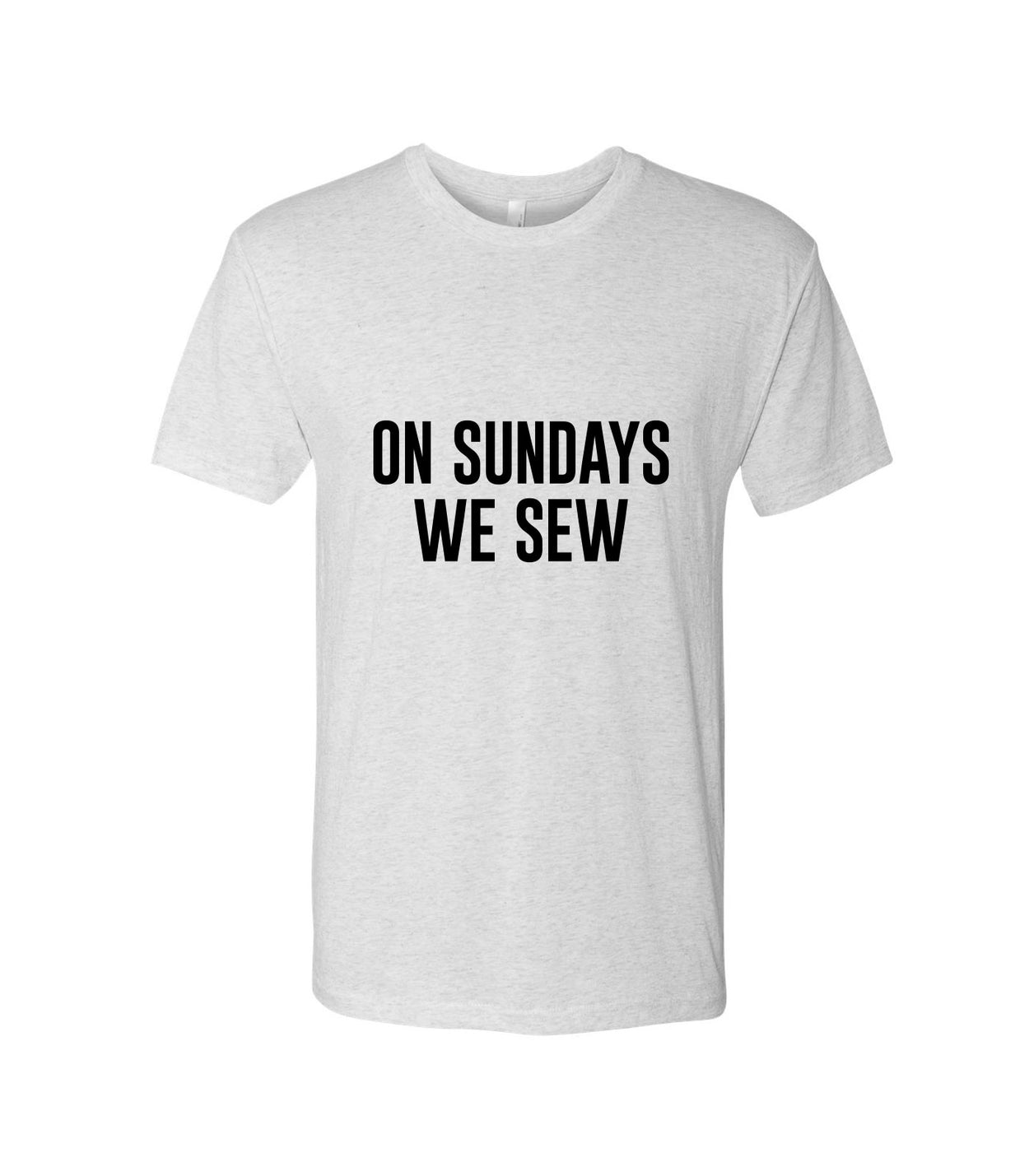 On Sundays We Sew (White)