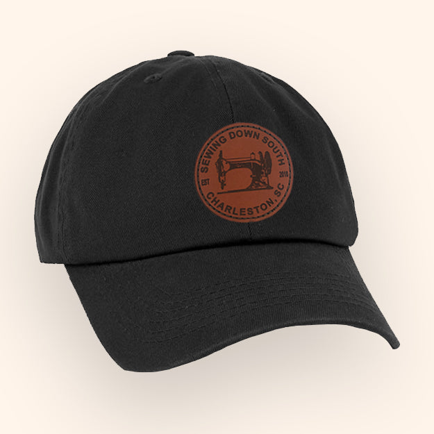Sewing Down South Leather Patch Cap, Black