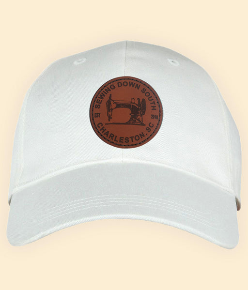 *NEW* Sewing Down South Leather Patch Cap, White