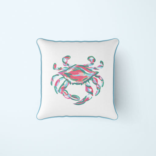 Coral King Crab Pillow
