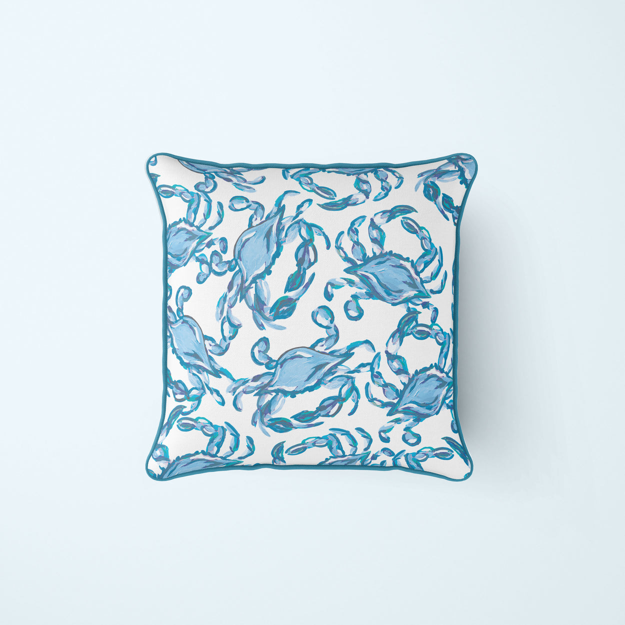 *NEW* Outdoor, Crab Craze Turquoise Pillow Cover