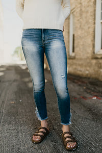 Gemma High Rise Ankle Skinny Jean