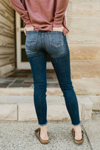 Load image into Gallery viewer, Mid Rise Super Skinny Dark Jean