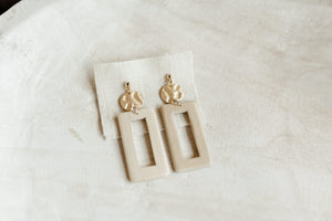 Square Wooden Earring