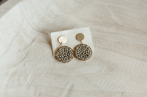 Beaded Sparkle Circle Studs