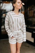 Load image into Gallery viewer, Alexa Stripe Hoodie Sweater