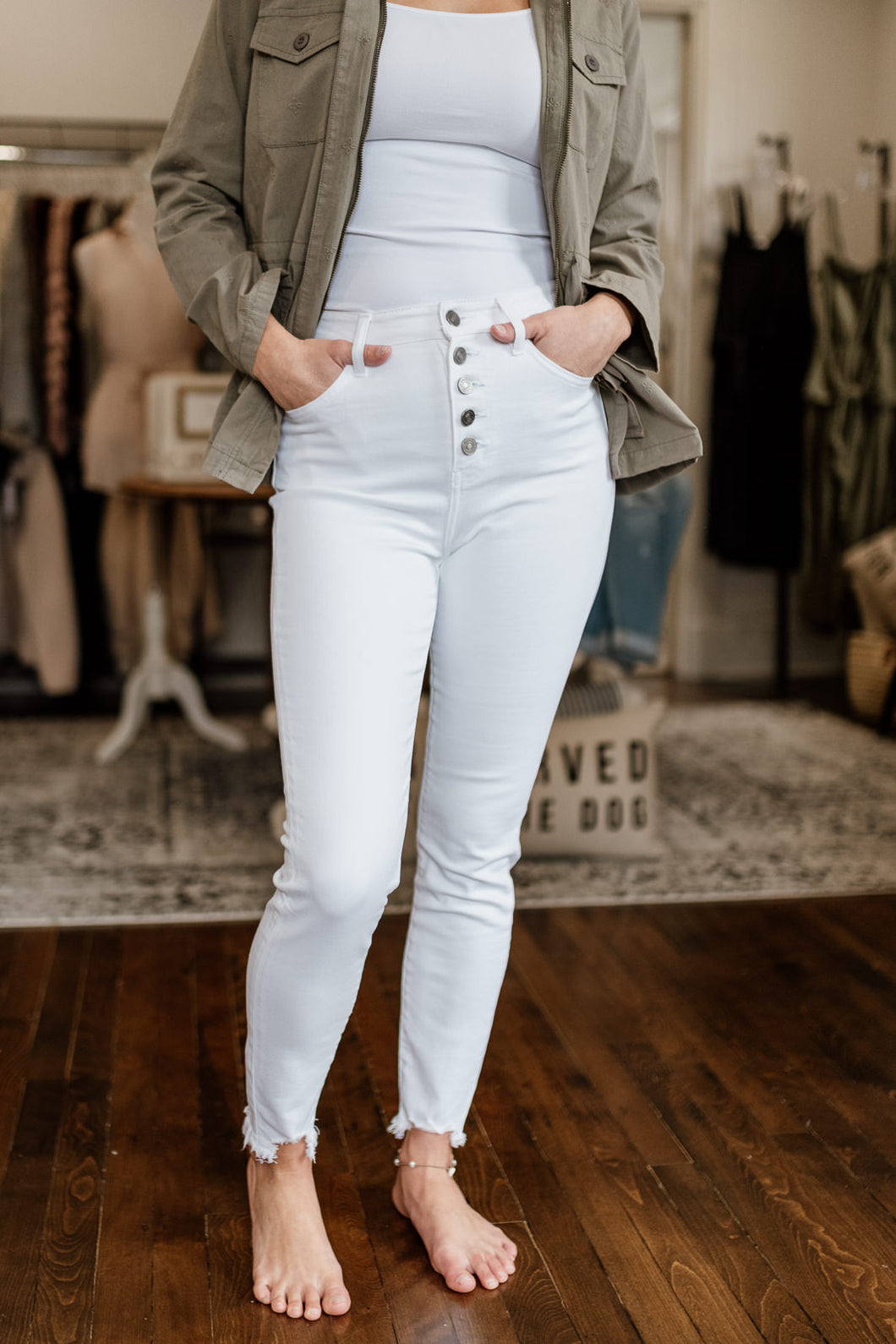 Gemma HR White Denim