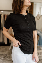 Load image into Gallery viewer, Henley Ribbed Tee