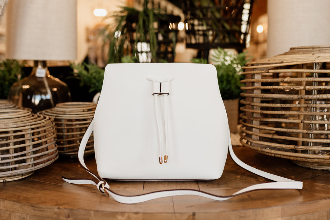 Leia White Crossbody