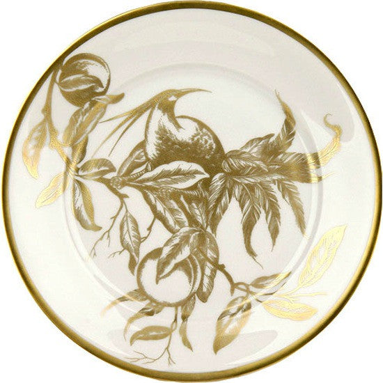 Weimar Porzellan Passion Accent Plates in White and Gold