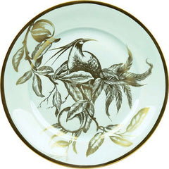 Weimar Porzellan Passion Accent Plates in Celadon and Gold