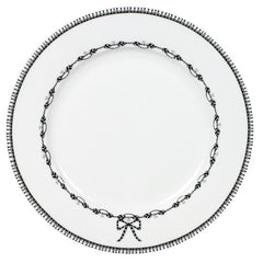 MIss Blackbirdy White Chain Dinner Plate