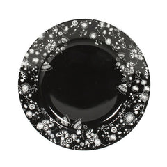 Miss Blackbirdy Black Flower Side Plate