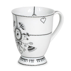 MIss Blackbirdy Large White Chain Mug