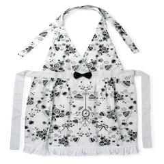 MIss Blackbirdy White Flower Apron