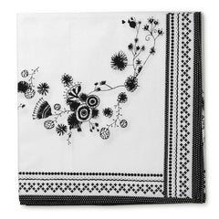 MIss Blackbirdy White Flower Table Runner