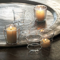 Dainty Glass Votives S/6
