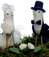 WLC Silk Bird Couple Cake Topper