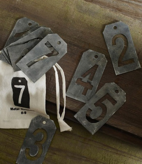 Zinc-plated Number Set