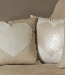 Linen Glittered Cushion Cover
