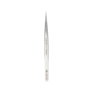 Pro-Slim Straight Tweezers, Stainless Steel 666