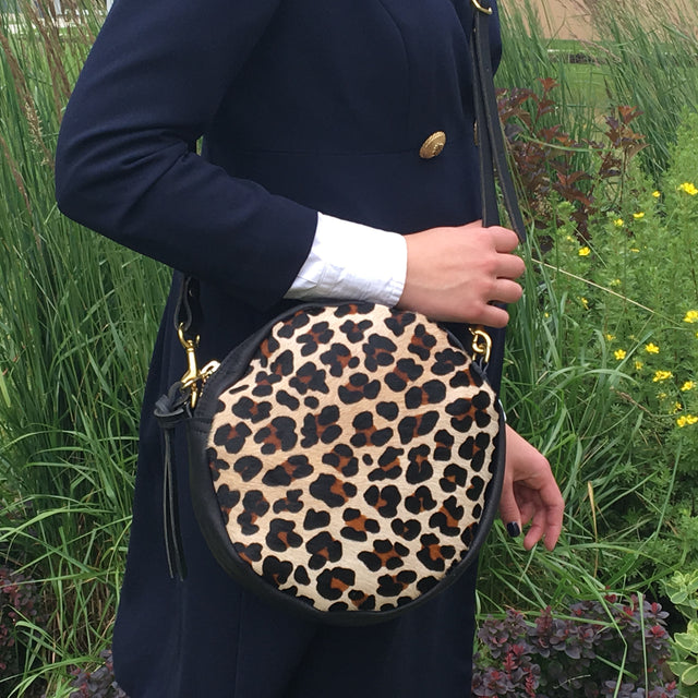Leopard Pony hair Emmy Bag