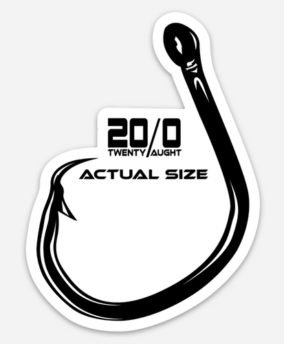 Actual Size Hook Decal