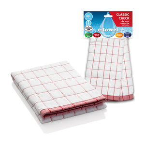 Classic Check Tea Towel Red