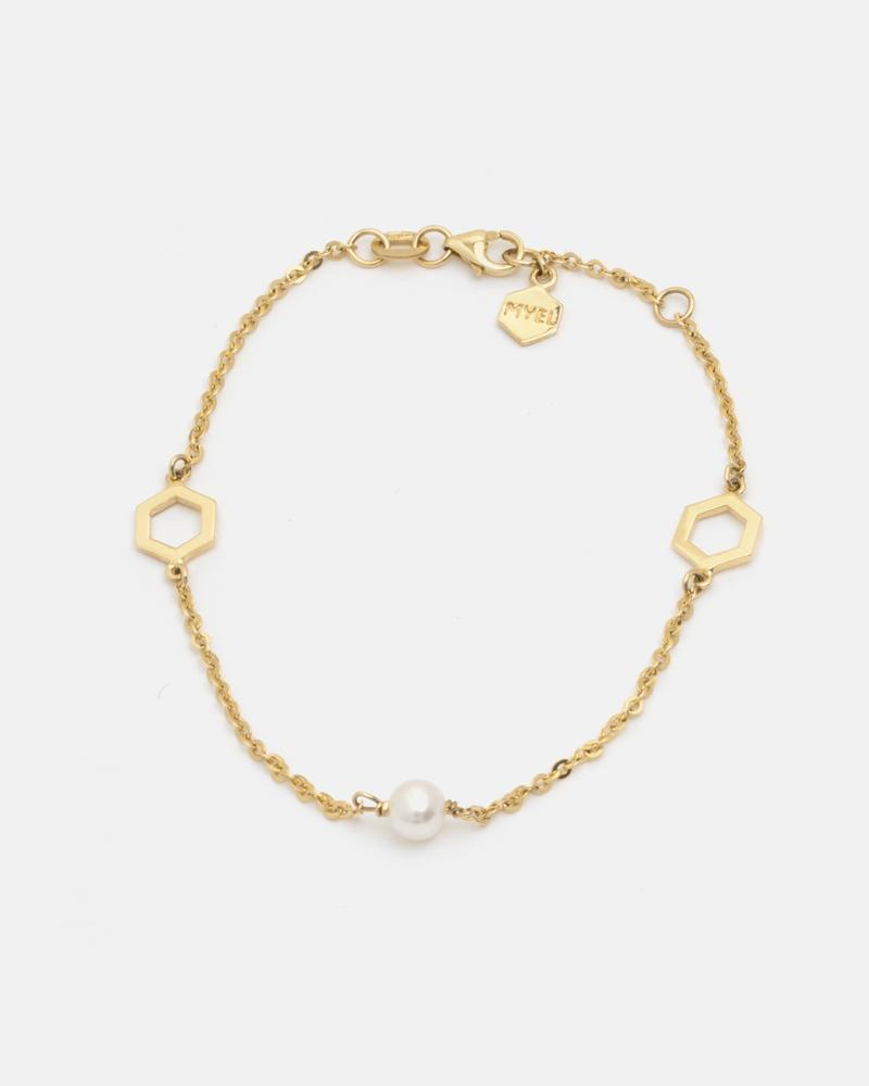Essaim Pearl Bracelet in Yellow Gold