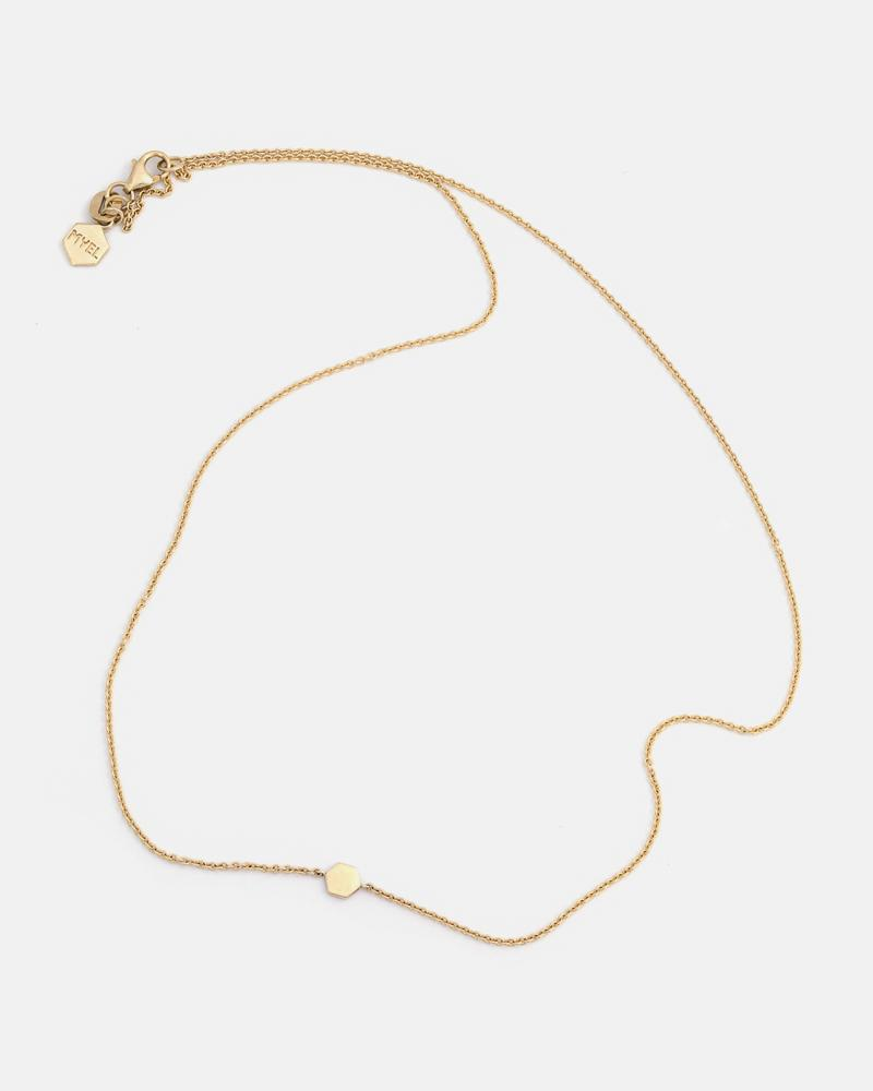 Geo 2 Necklace in Yellow Gold