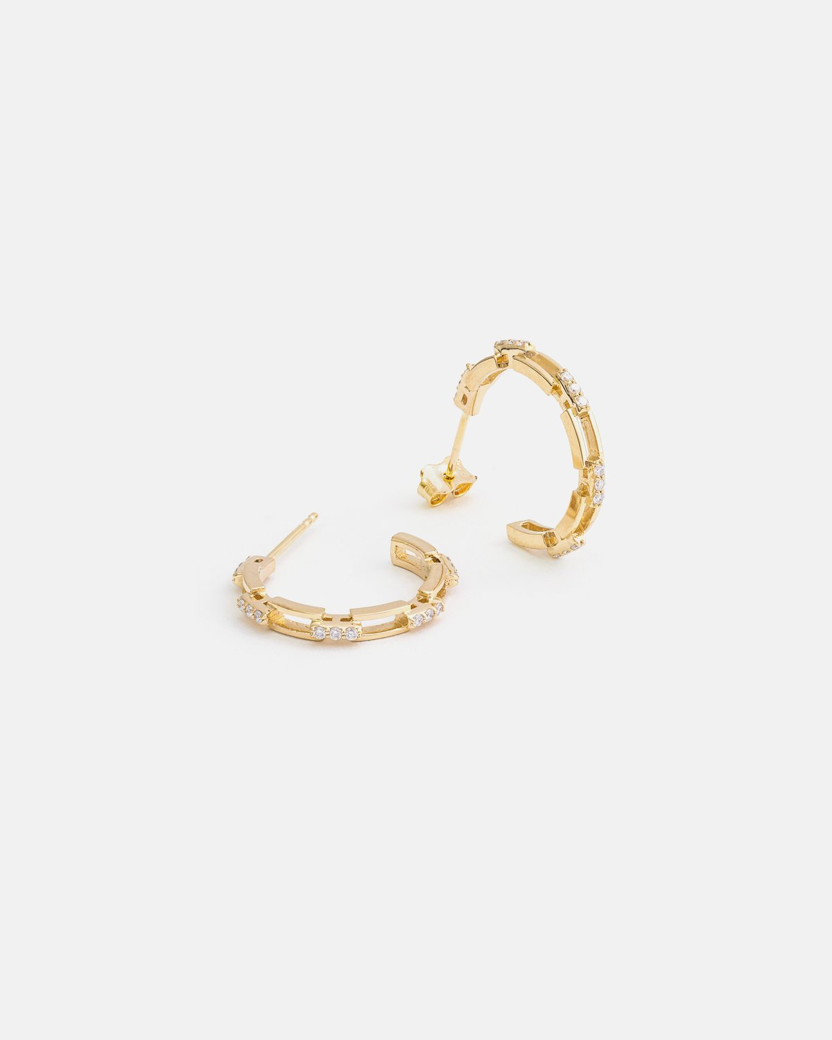 Liaisons Hoops in Yellow Gold with Diamonds