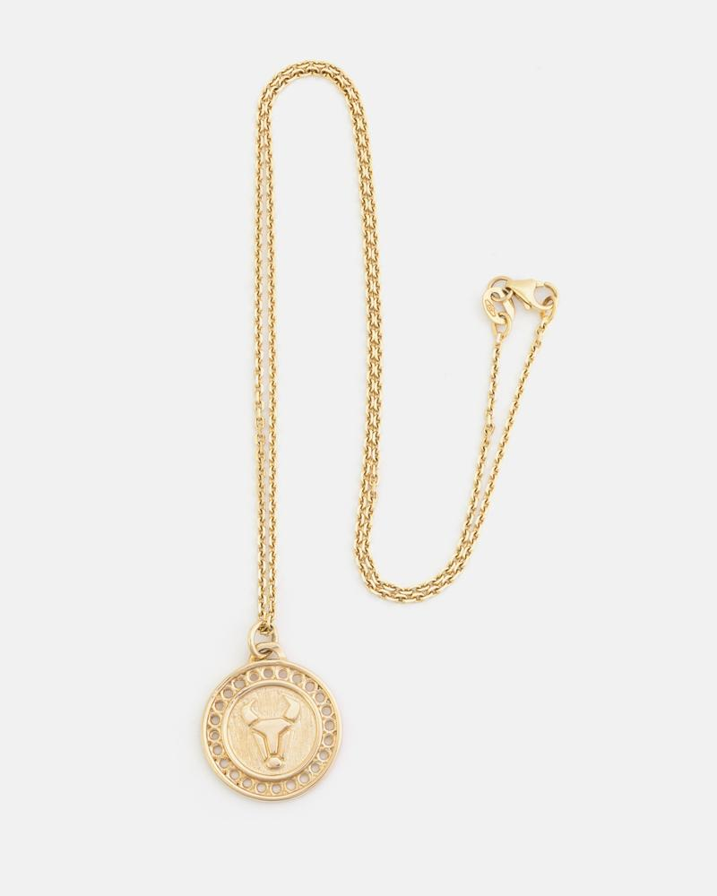 Zodiac Taurus Necklace in Yellow Gold