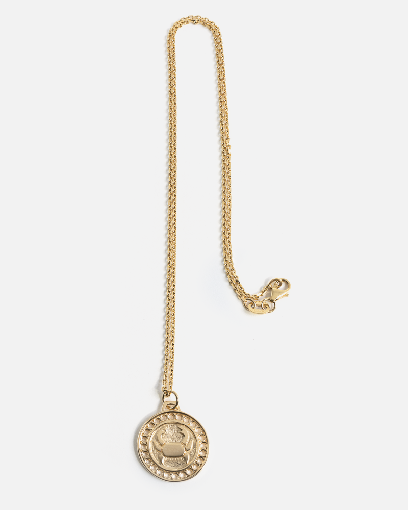 Zodiac Cancer Necklace in Yellow Gold