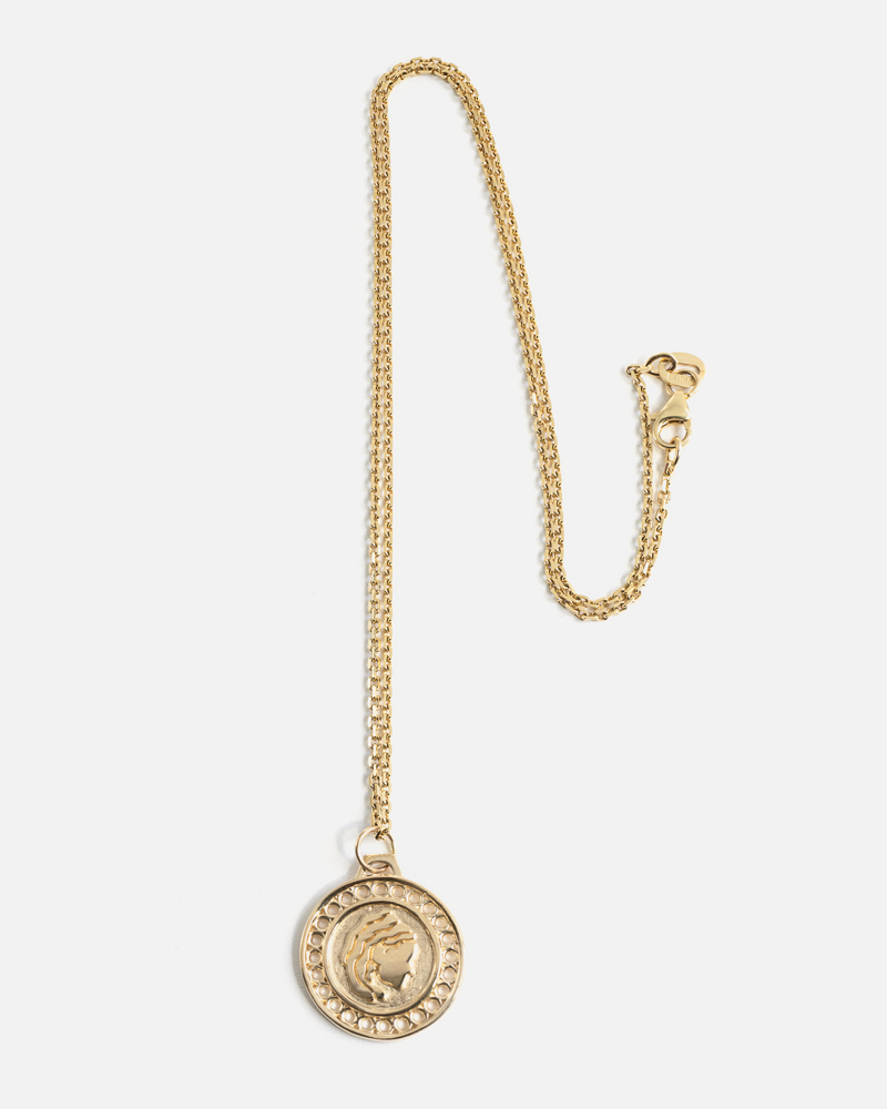 Zodiac Virgo Necklace in Yellow Gold