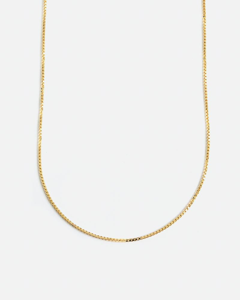 Box Chain in 10k Yellow Gold