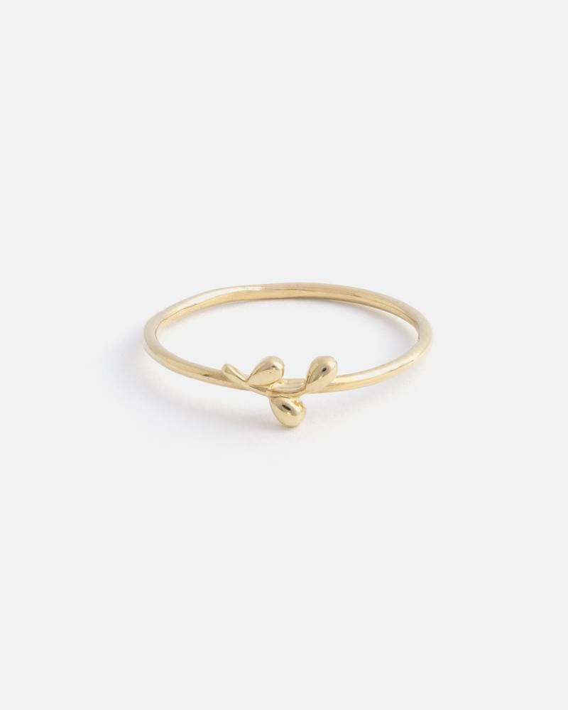 Mini Branch Ring in Yellow Gold